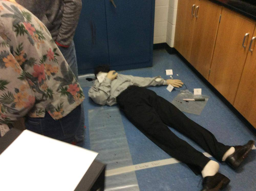 Fake crime scene