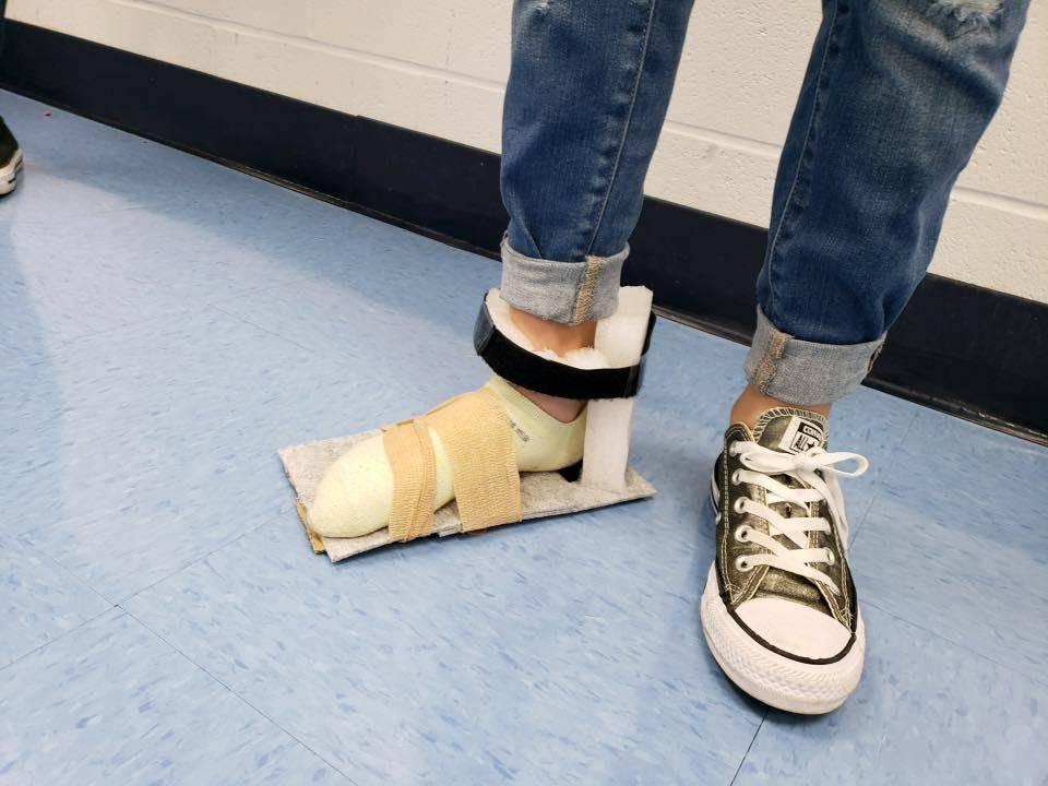 Student's feet