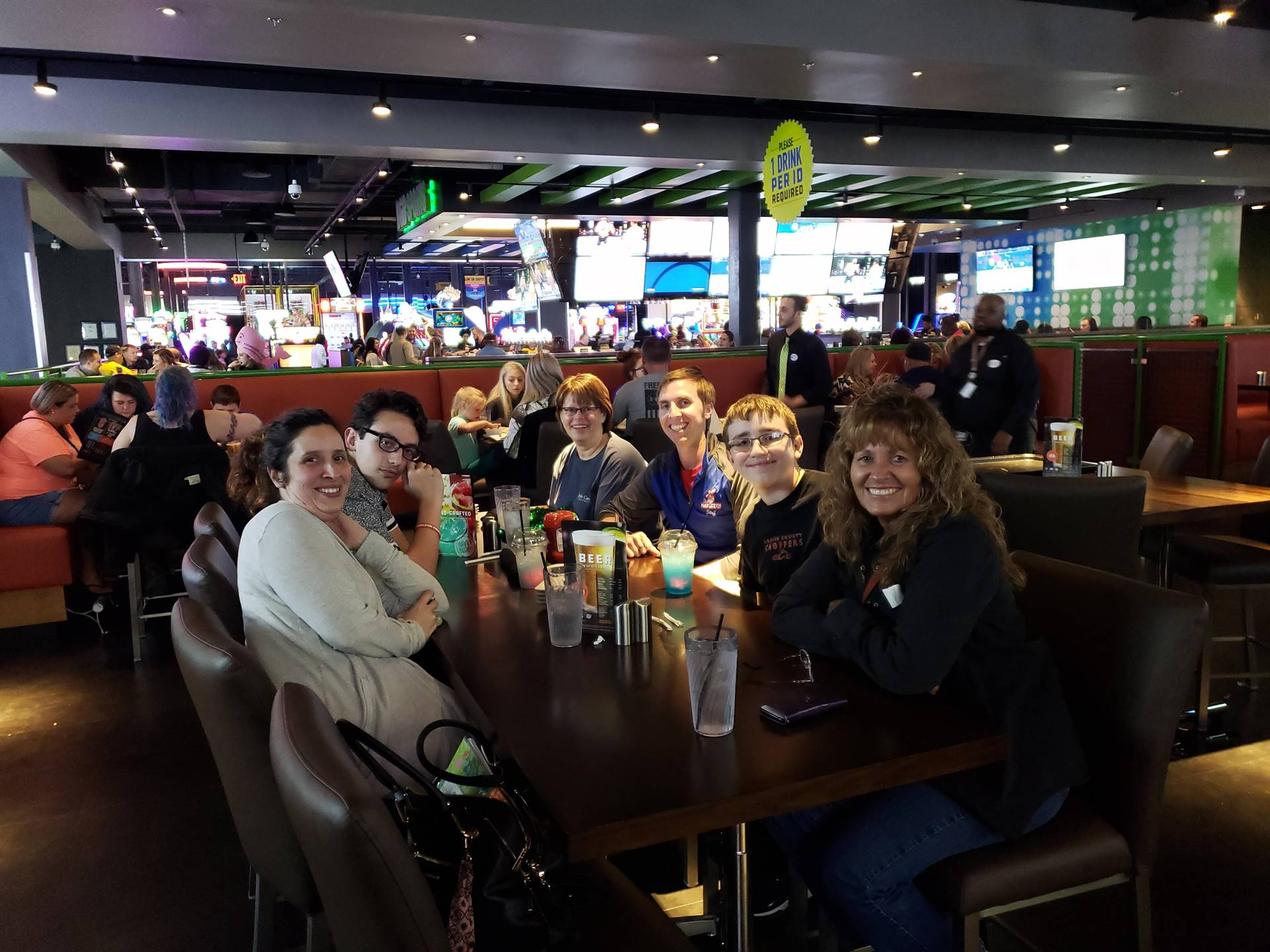 Dinner at Dave and Busters